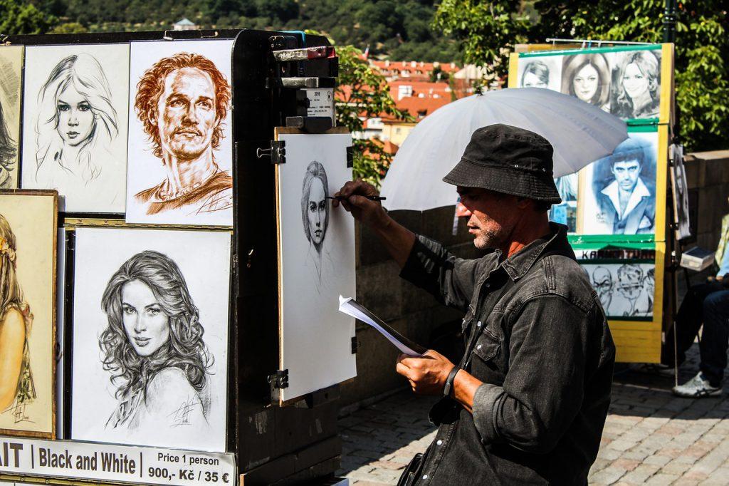 צייר ברחוב