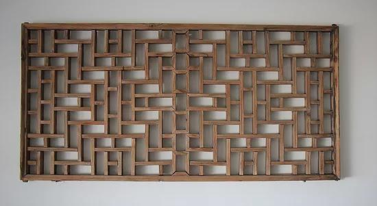 תריס עץ סיני ישן