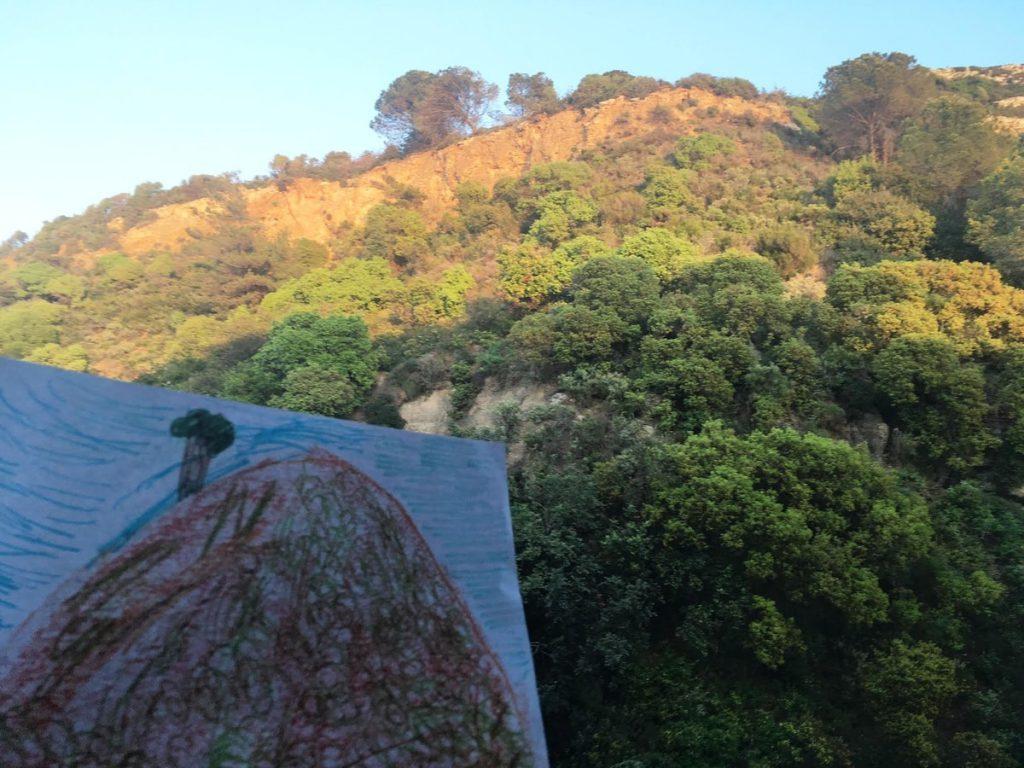 ציור נוף ממרפסת המלון ברודוס