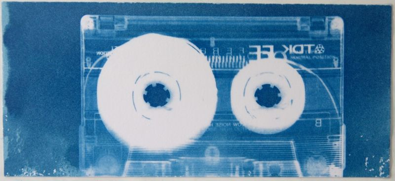 הדפס של קלטת אודיו בציאנוטייפ