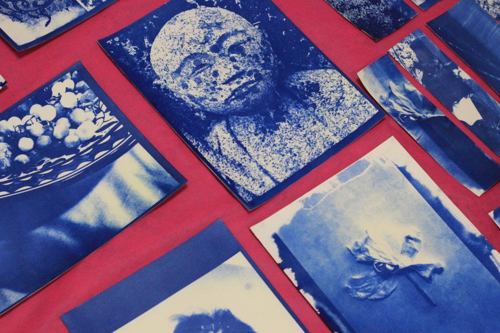 תוצרים של משתתפי סדנת הציאנוטייפ של רחל ארז