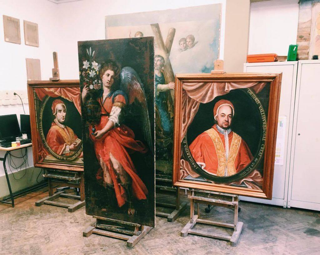 המעבדה לשימור תמונות בבית הספר palazzo spinelli