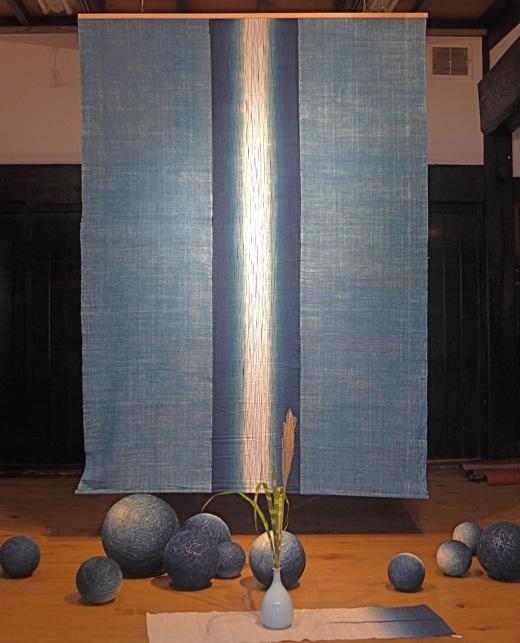 פאנל בד גדול כחול