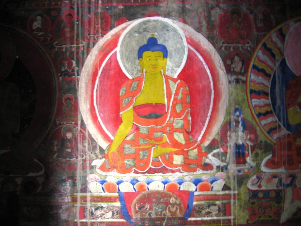ציור קיר של בודהה