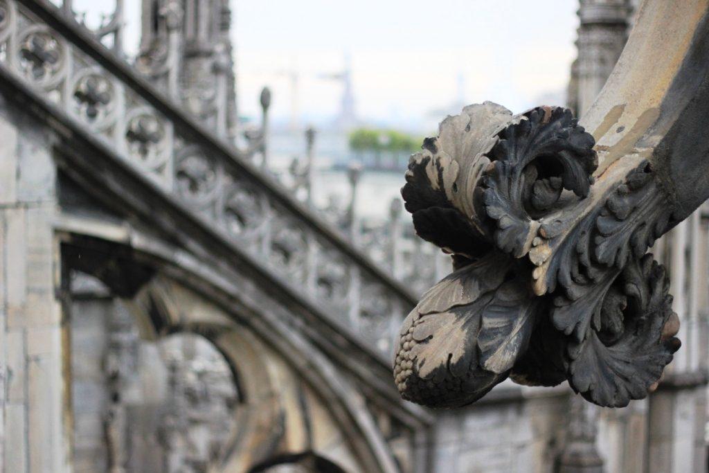 פרט על גג כנסיית הדואומו במילנו