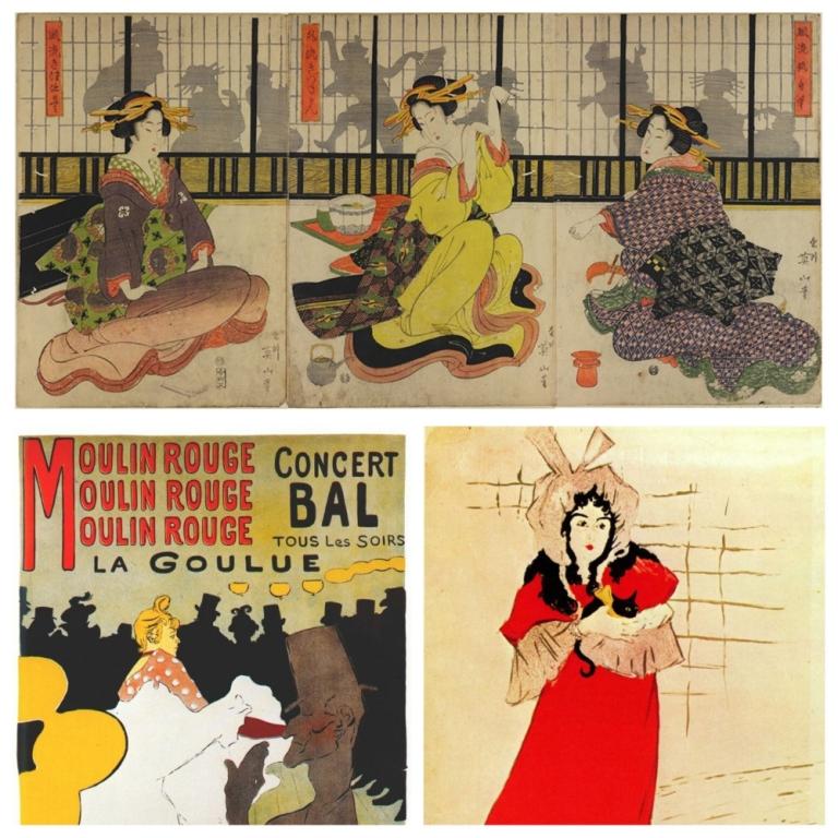 השפעת ההדפסים היפנים על עבודותיו של לוטרק