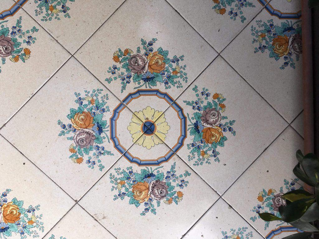 רצפת מסעדה בפומפיי