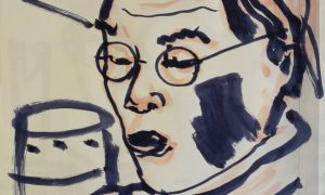 ציור דיוקן של Hiroyuki Shindo