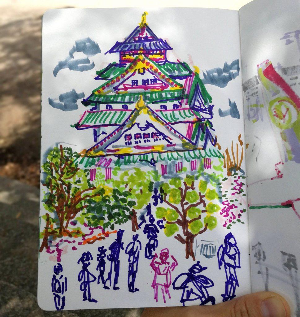 ציור של osaka_castle