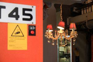 cool design of malaca too restaurant