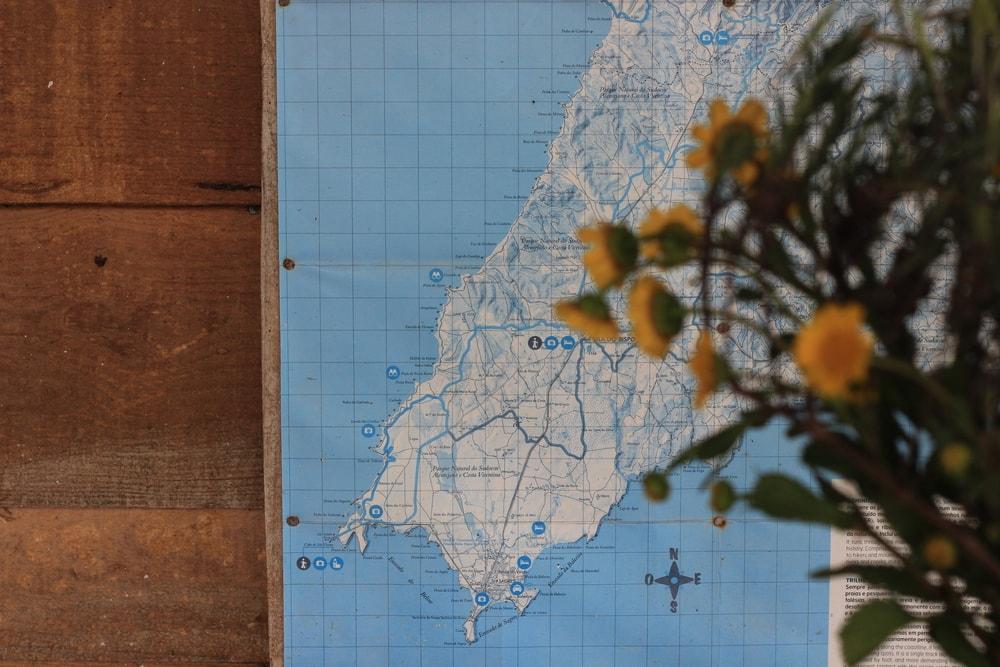 מפת פורטוגל עם זר פרחים, בחוות החמורים