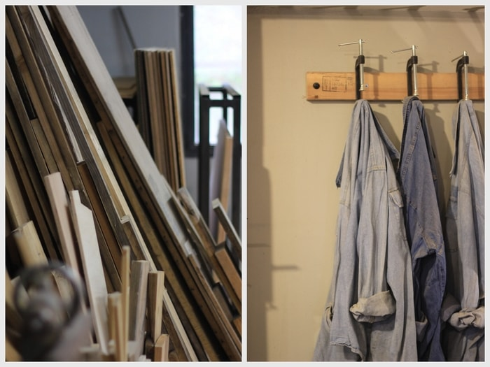 חולצות עבודה מג'ינס וחלקי עץ