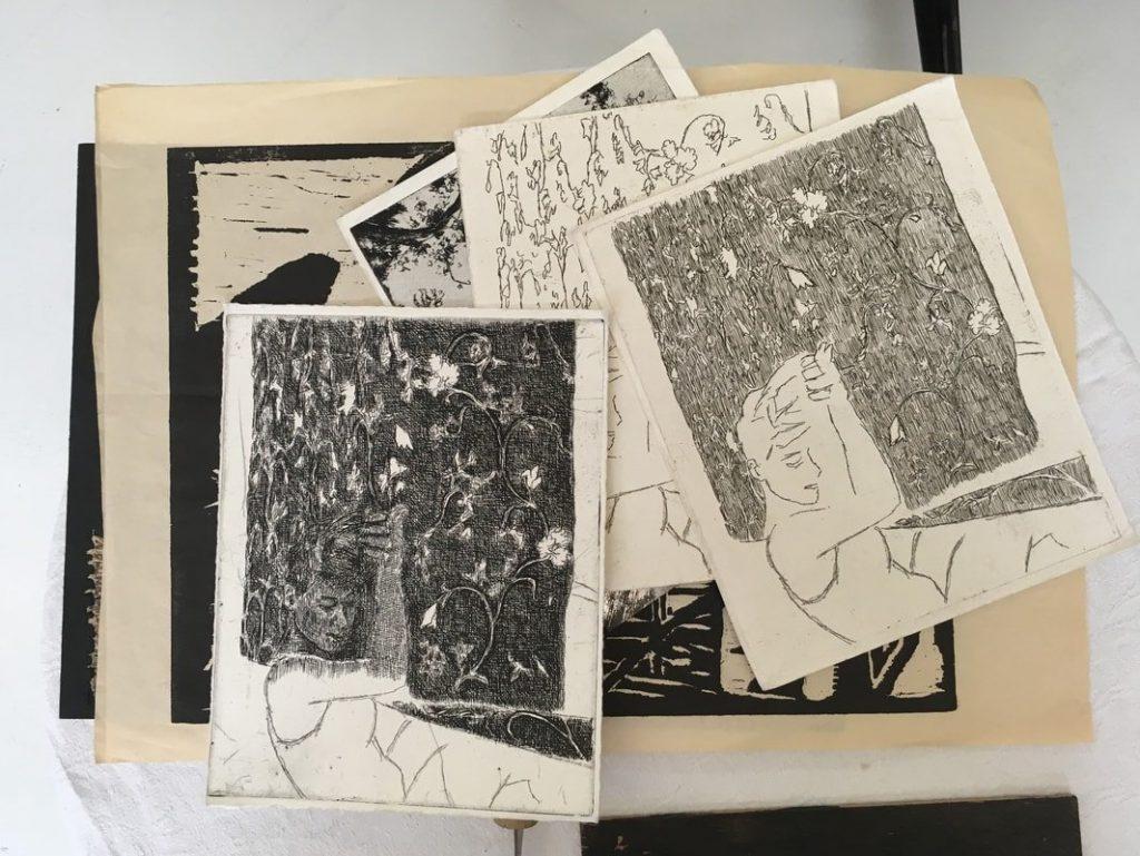הדפסים שחור לבן