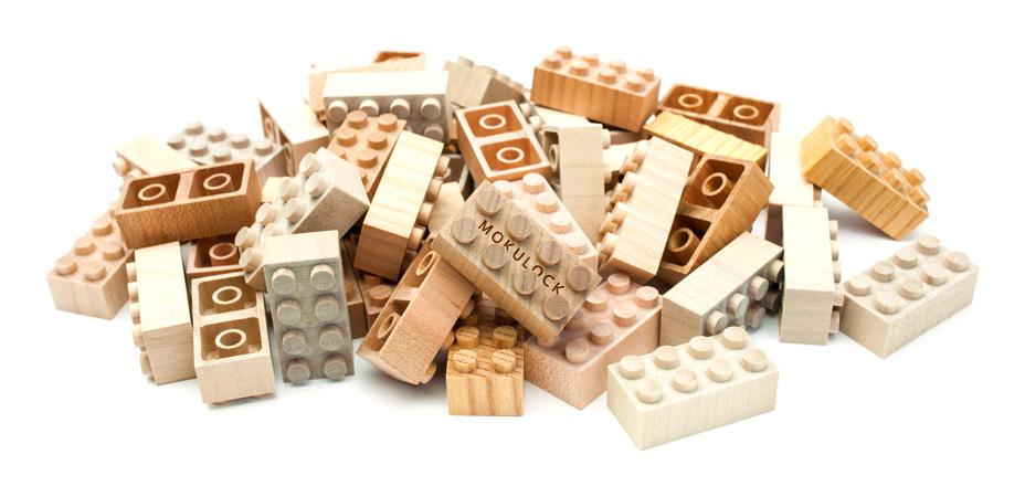 Mokulock לבני בניה מעץ