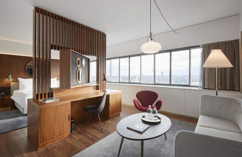 חדר בסגנון מודרני במלון רדיסון קופנהאגן