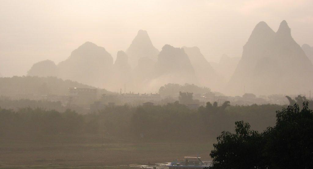 נוף הרים ביאנגשו גווילין