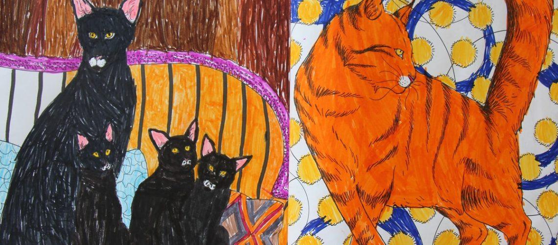 חוברות צביעה של חתולים